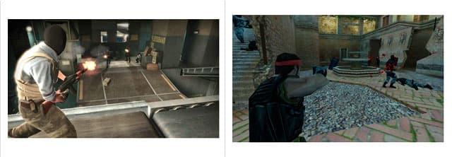 CS:GO frente a una de las primeras versiones de Counter Strike